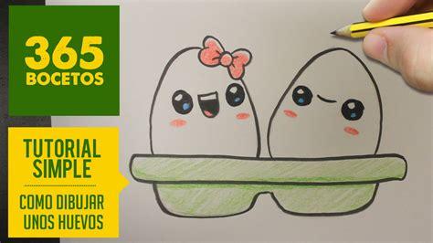 imagenes kawaii a lapiz como dibujar unos huevos kawaii paso a paso dibujos