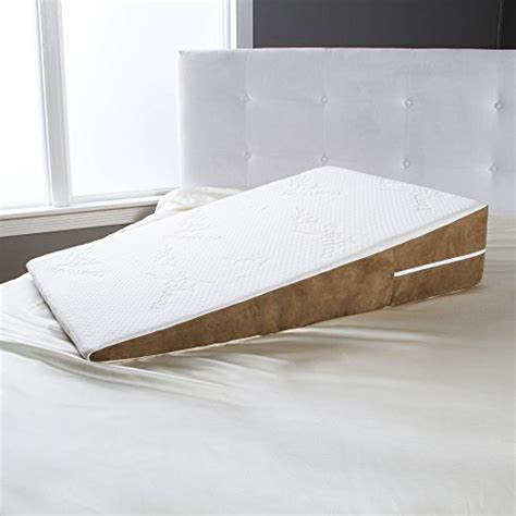 memory foam long bed wedge pillow avana bed wedge memory foam gerd pillow x large desertcart