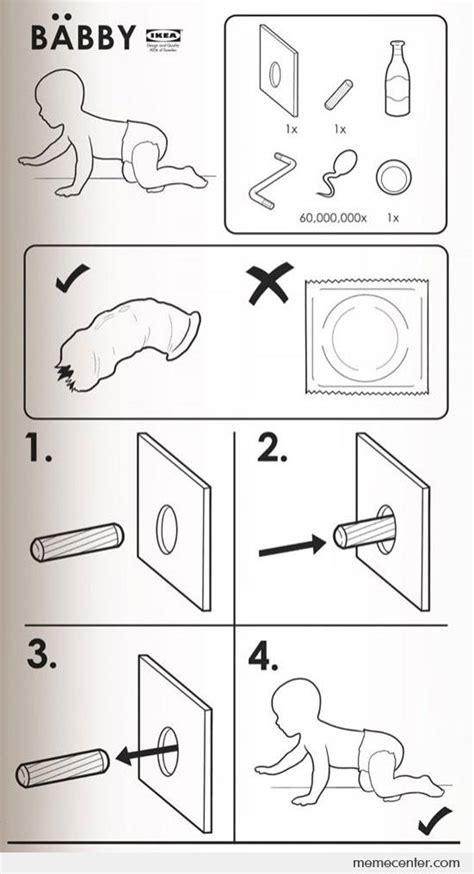 Ikea Instructions Meme - ikea instructions to babby by ben meme center