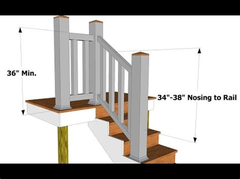 Whats A Banister by Stair Railing Height For Deck Stair Railing Height On Deck