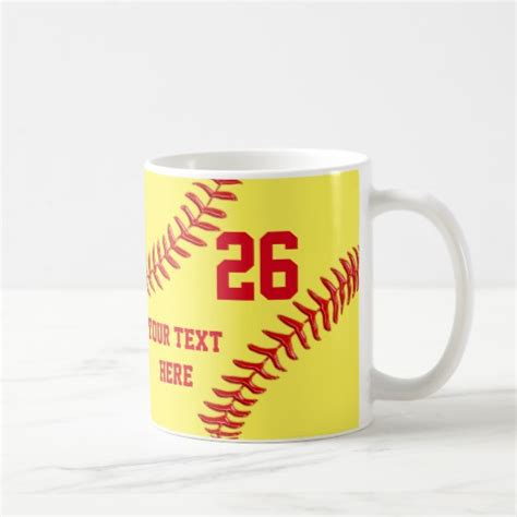 personalized and cheap softball gifts for players coffee