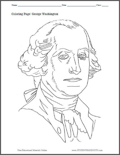 george washington coloring page for kindergarten all worksheets 187 george washington worksheets printable