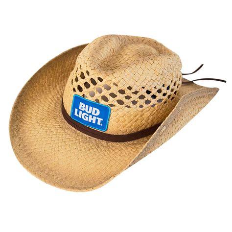 bud light cowboy hat bud light logo straw cowboy hat