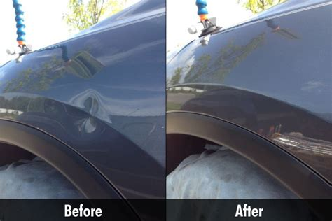 Hair Dryer To Fix Hail Damage door dents bmw door ding needing repair using pdr in