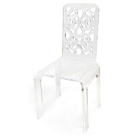 chaise acrylique grand soir dentelle blanche acrila