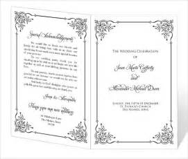 downloadable wedding templates wedding program template 41 free word pdf psd