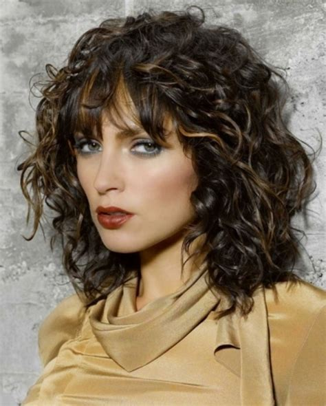 spiral perm with straight bangs perm with straight bangs hair color ideas and styles for