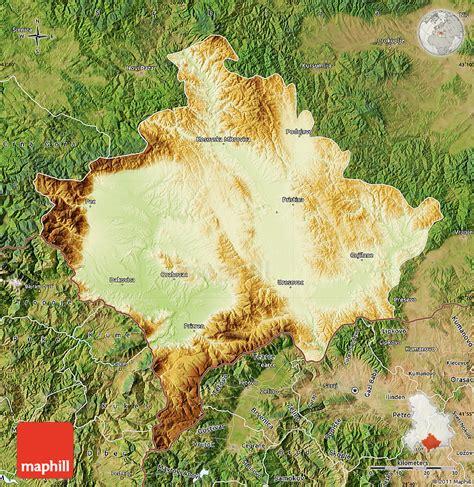 maps kosovo satellite physical map of kosovo satellite outside