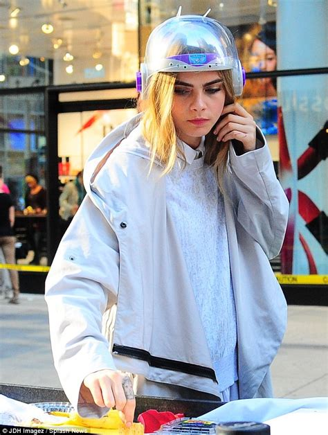 cara set youngmax cara delevingne teams odd helmet with cute white sheer