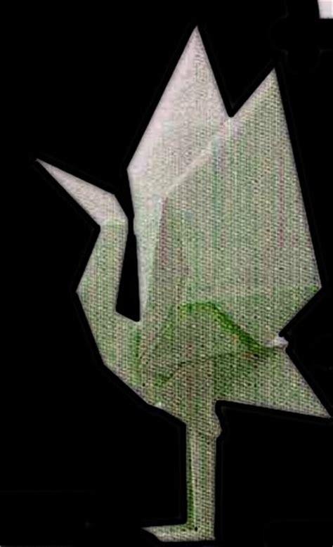 Origami Standing - standing crane origami