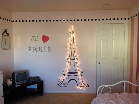 cute teenage girls room decor with eiffel tower theme lit eiffel tower for my daughter s paris themed room