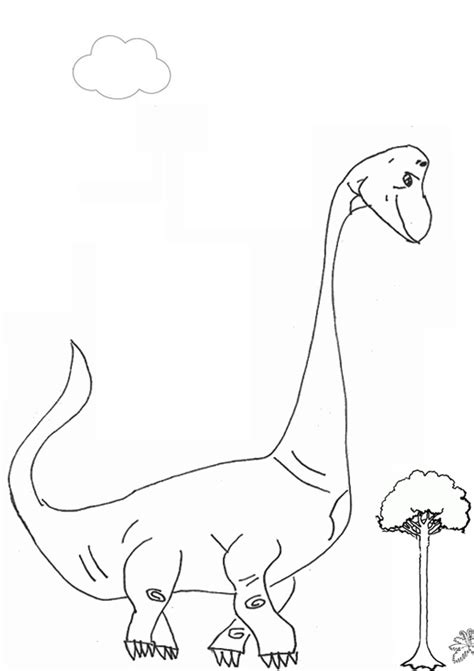 Free Online Printable Kids Colouring Pages Brachiosaurus Kidspot Colouring Pages