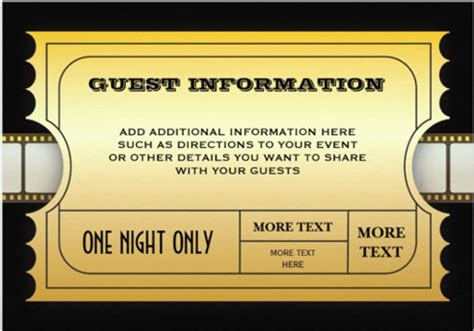 golden ticket invitation template free golden ticket invitation template free style