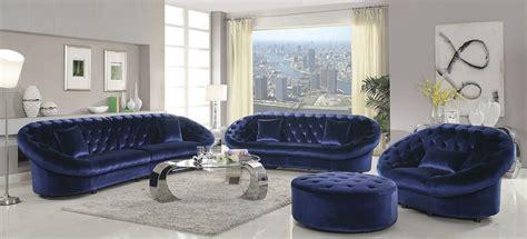 royal blue room romanus royal blue velvet living room set 511042 coaster