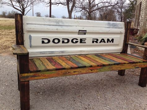 how to make a tailgate bench tailgate bench old car parts such pinterest