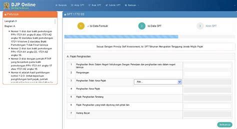 tutorial djp online tutorial mudah cara lapor spt tahunan pajak online kaskus