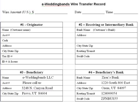 international bank transfer e wedding bands international customers