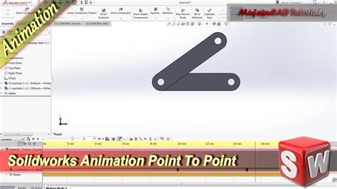 solidworks 2013 tutorial simple animation youtube solidworks basic animation tutorial point to point youtube