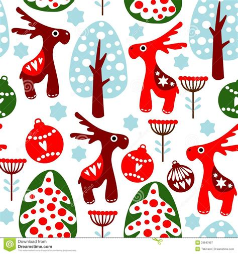 cute christmas pattern cute seamless pattern with christmas balls reind royalty