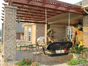 To build a covered pergola attached to the house garden landscape