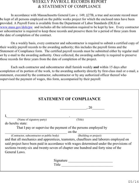 Download Massachusetts Certified Payroll Form for Free - FormTemplate
