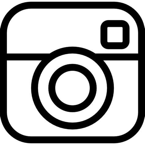 White Instagram Logo Outline by Instagram Social Outlined Logo Free Social Icons