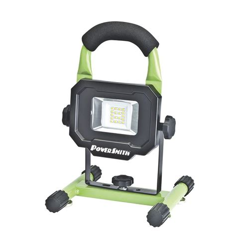 rechargeable magnetic work light powersmith 10 watt 900 lumens led magnetic rechargeable