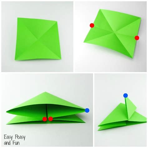 how to make an easy origami frog origami frogs tutorial origami for easy peasy and