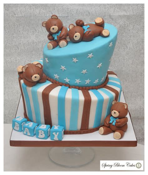 Teddy Baby Shower Cake Ideas by Teddy Baby Shower Cake By Bloom Cakes