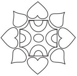 Coloring pages of simple rangoli designs coloring