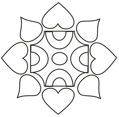 coloring pages easy designs rangoli designs coloring part 6