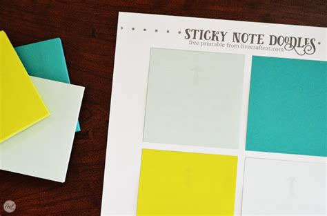 Free Template For Diy Printable Sticky Notes Live Craft Eat Sticky Note Template