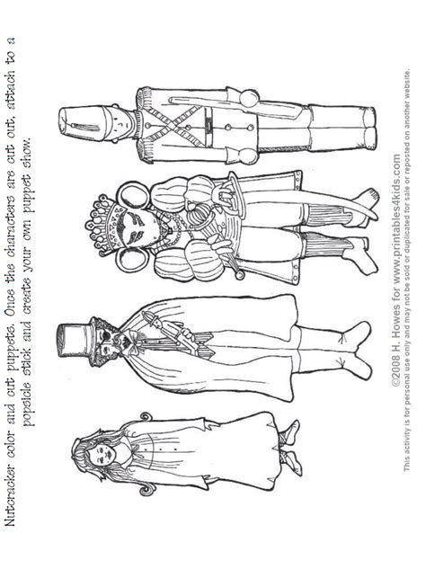 free nutcracker coloring pages to print nutcracker print and color puppets printables for kids