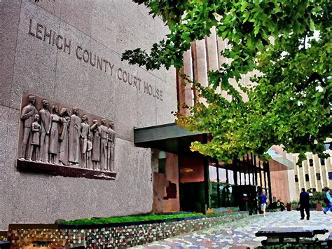 Lehigh County Courthouse Records Allentown Pa Lehigh County Courthouse With Frieze Photograph By Jacqueline M Lewis