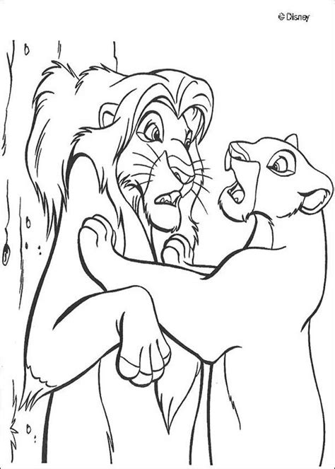 how to colour in a scar in your hairline 13 dessins de coloriage nala 224 imprimer