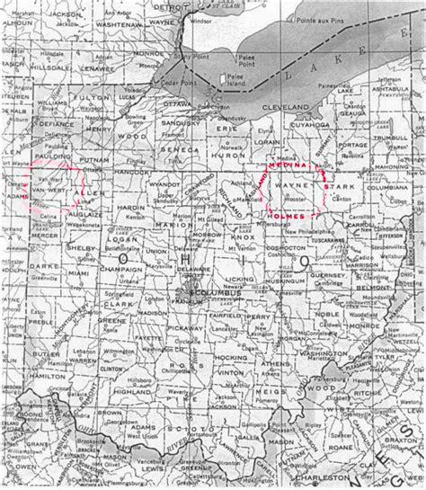 ohio map by county map of ohio ohio maps mapsof net