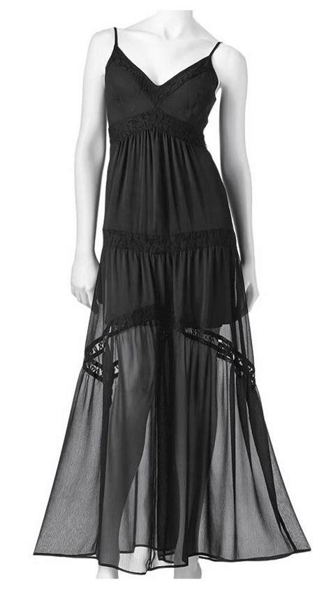 Dahlia Maxy Lacoste haight kohls black chiffon lace maxi dress size small