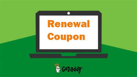 godaddy renewal coupon jan  save   renewing