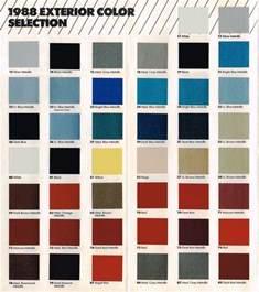 1988 chevy color chart paint sle brochure vinyl top