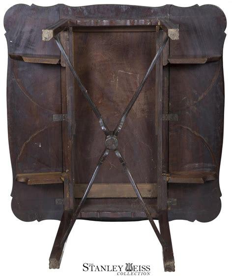 large george ii figured mahogany a grand figured mahogany chippendale george ii pembroke table with porringer top pierced