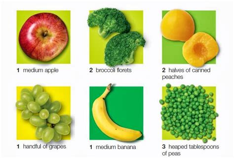 1 fruit portion cooking for health portion sizes of fruit and vegetables