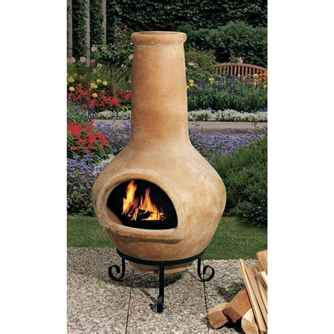 Terra Cotta Chiminea by Mexican Chiminea 102662 Pits Patio Heaters At