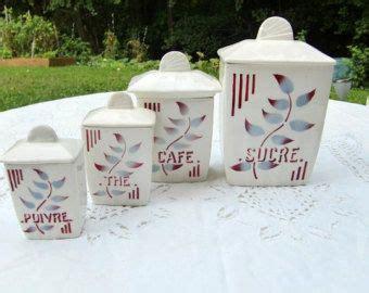 french vintage art deco kitchen canister set of by french vintage kitchen canisters set of 4 very art deco