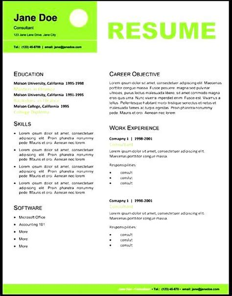 Professional Resume Layout professional resume layout free sles exles