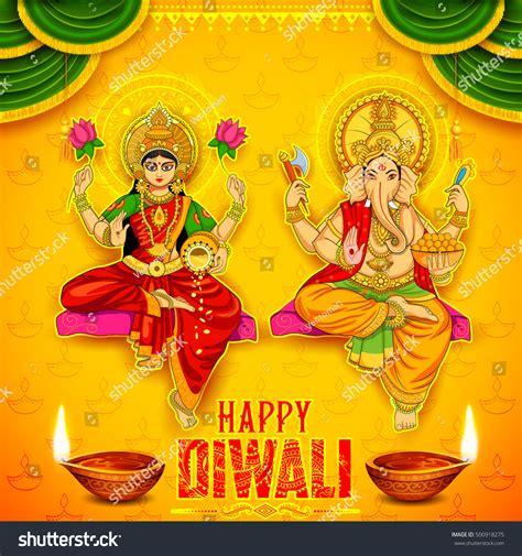 wang dang doodle hindu gods illustration goddess lakshmi lord ganesha on stock vector