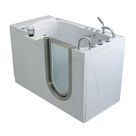 bathtub with door walk in tub ella elite 4 33 ft x 30 in acrylic walk in dual air and