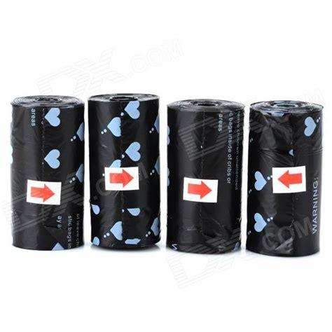 22010 Black Sllast Pcs doglemi dm90012 pet garbage bag black 4 pcs 4 60
