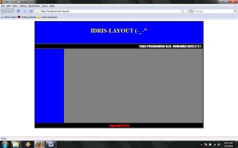 video layout bgcolor dasar html dan layout sederhana idris blog