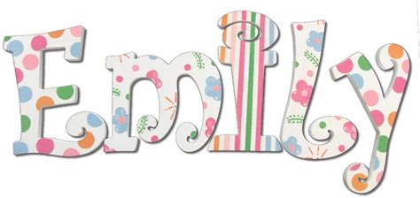 letters for emily emily dot stripe painted wall letters