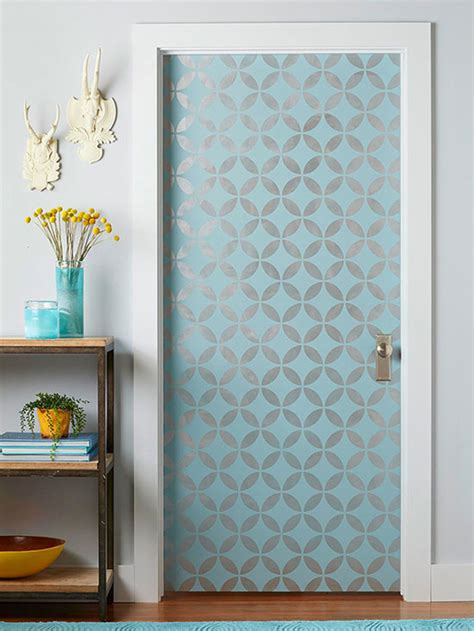 Glass Door Stencils Diy Interior Door Hacks Landeelu